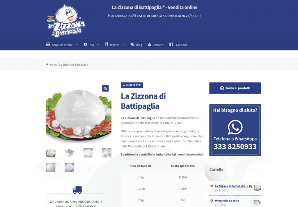 L'e-commerce ufficiale de La Zizzona di Battipaglia®